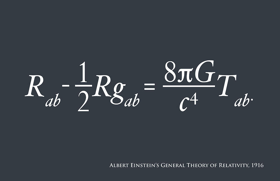 Einstein Theory Of Relativity Digital Art
