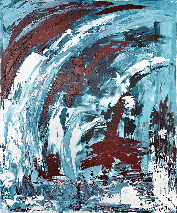 Abstract Art Painting - Eiskaltes Rot by Thomas Kleiner