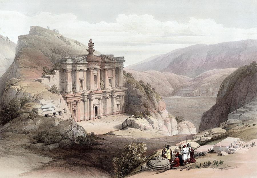 El Deir Petra 1839 Photograph