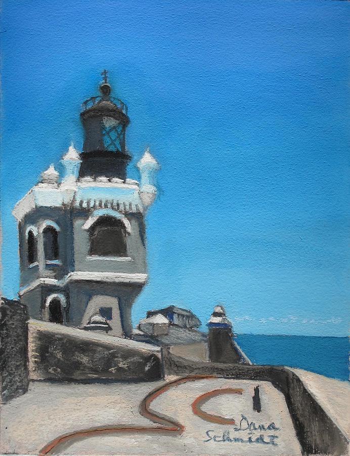El Morro Painting - El Morro Fort In Old San Juan Puerto Rico by Dana Schmidt