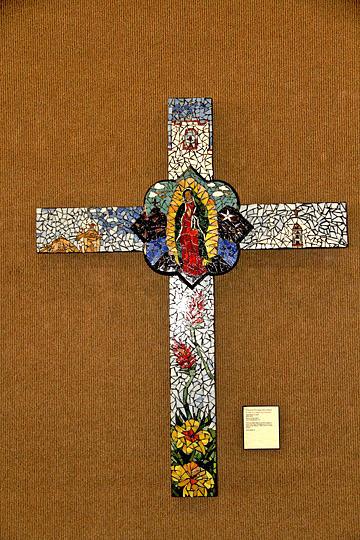 El Paso Glass Art - El Paso - Tribute To The Virgin Of Guadalupe - Tributo A La Virgen De Guadalupe by Maritza Jauregui Neely