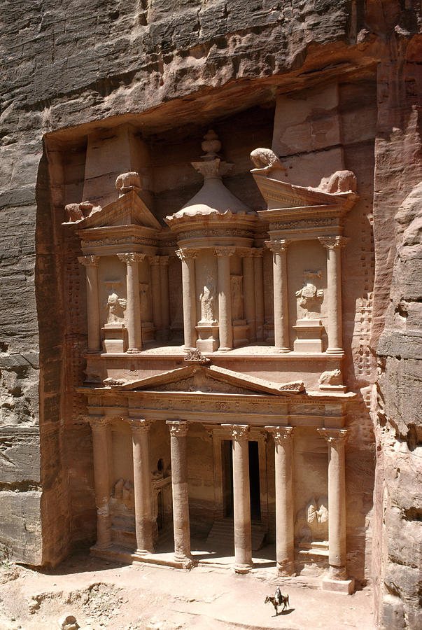 Outdoors Photograph - Elaborate Sandstone Temple Or Tomb by Luis Marden