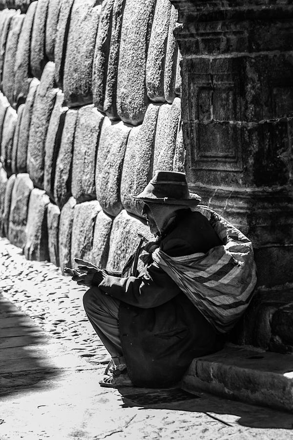 Elderly Inca Photograph  - Elderly Inca Fine Art Print