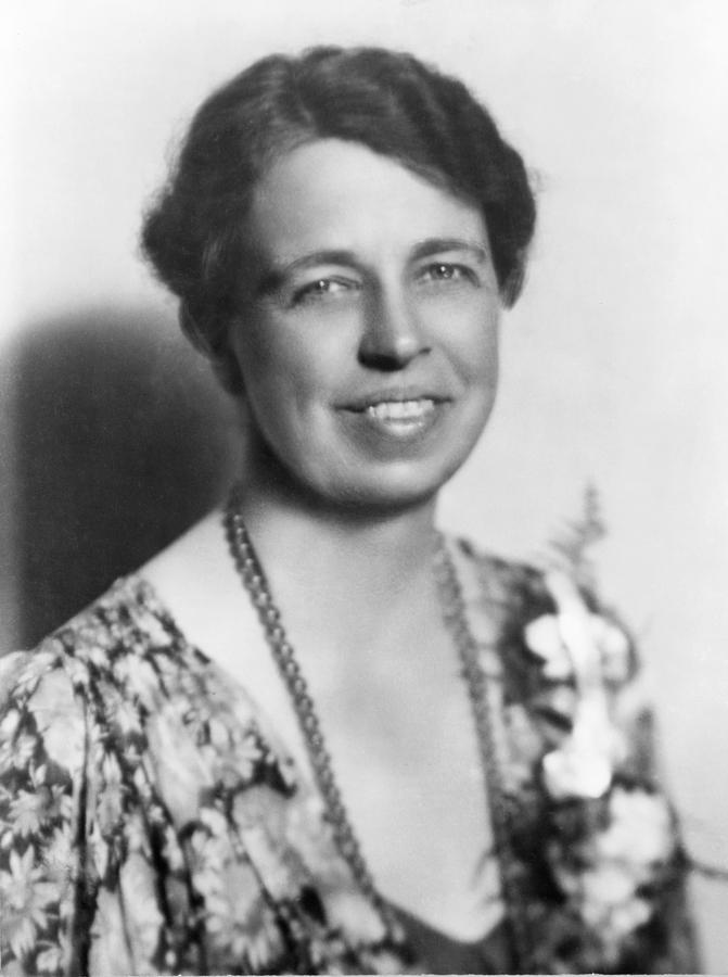 Eleanor Roosevelt 1884-1962 In July Photograph  - Eleanor Roosevelt 1884-1962 In July Fine Art Print