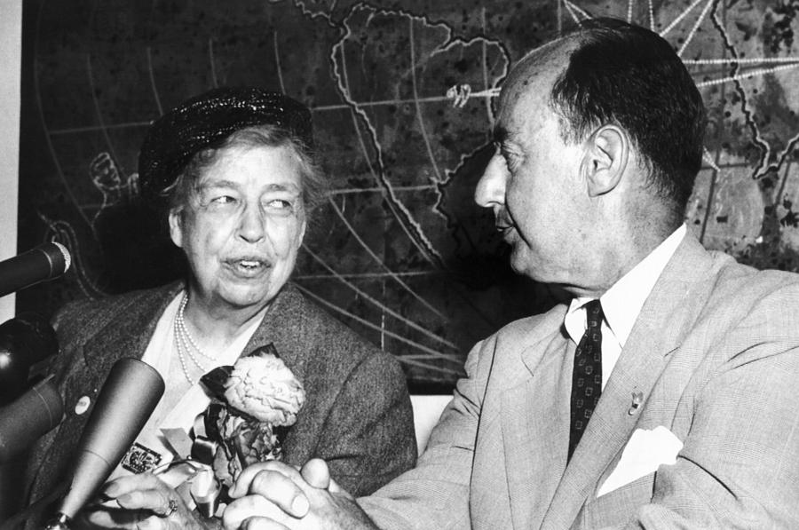 Eleanor Roosevelt Supported Adlai Photograph  - Eleanor Roosevelt Supported Adlai Fine Art Print