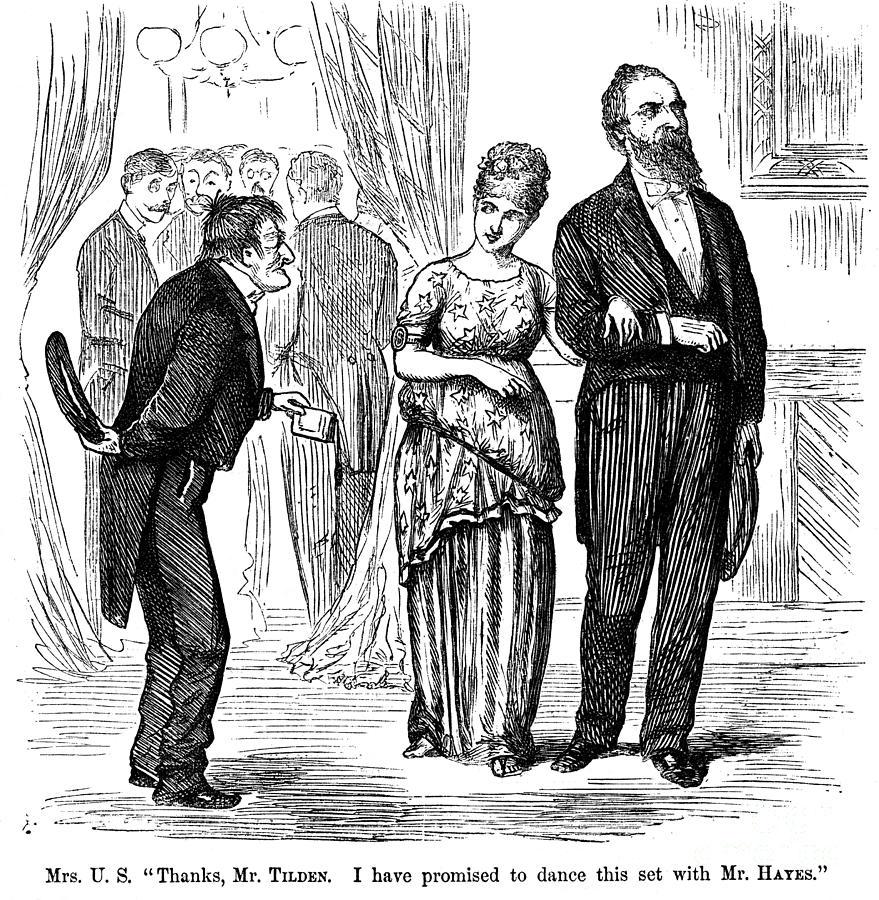 1876 Photograph - Election Cartoon, 1877 by Granger