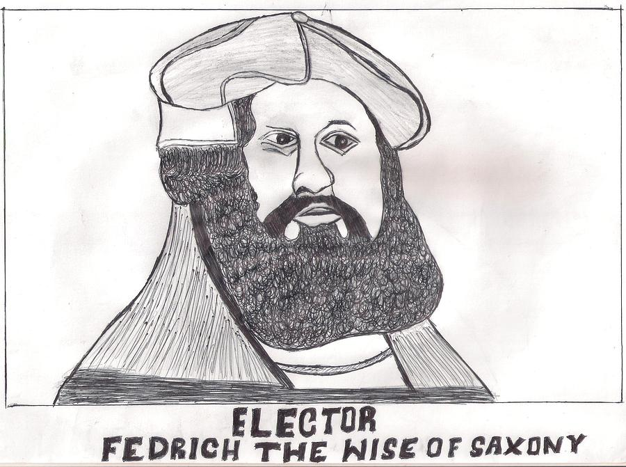 Elector Fedrich The Wise Of Saxony Drawing