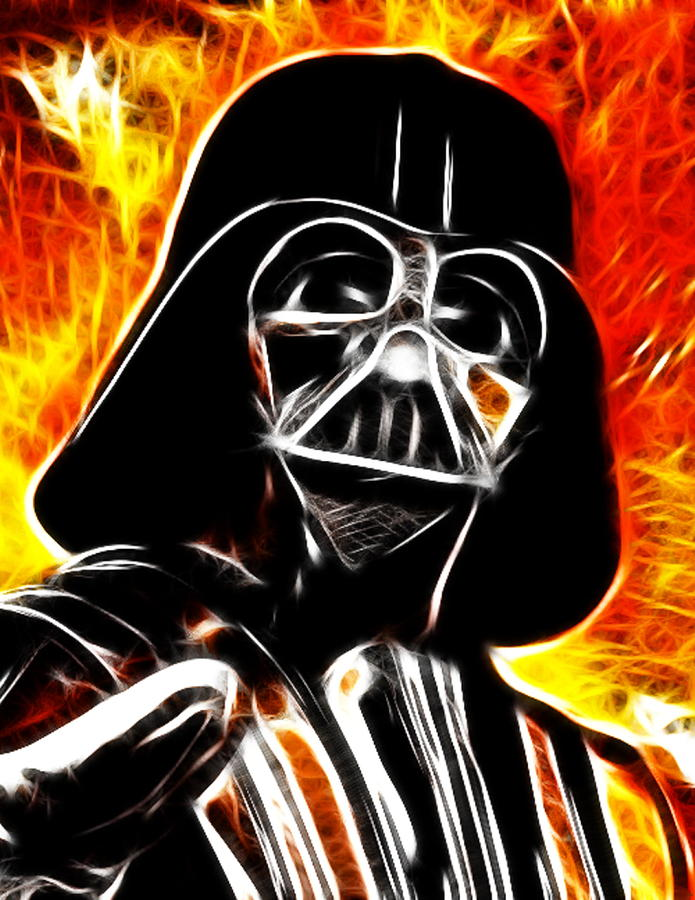 Electric Darth Vader Painting  - Electric Darth Vader Fine Art Print