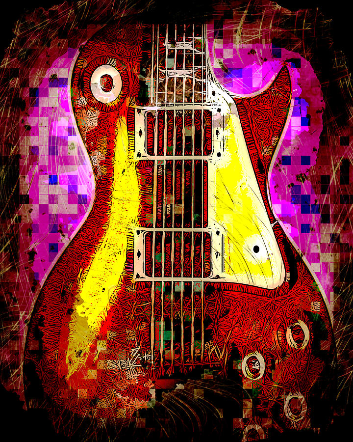Electric Guitar Abstract Photograph  - Electric Guitar Abstract Fine Art Print