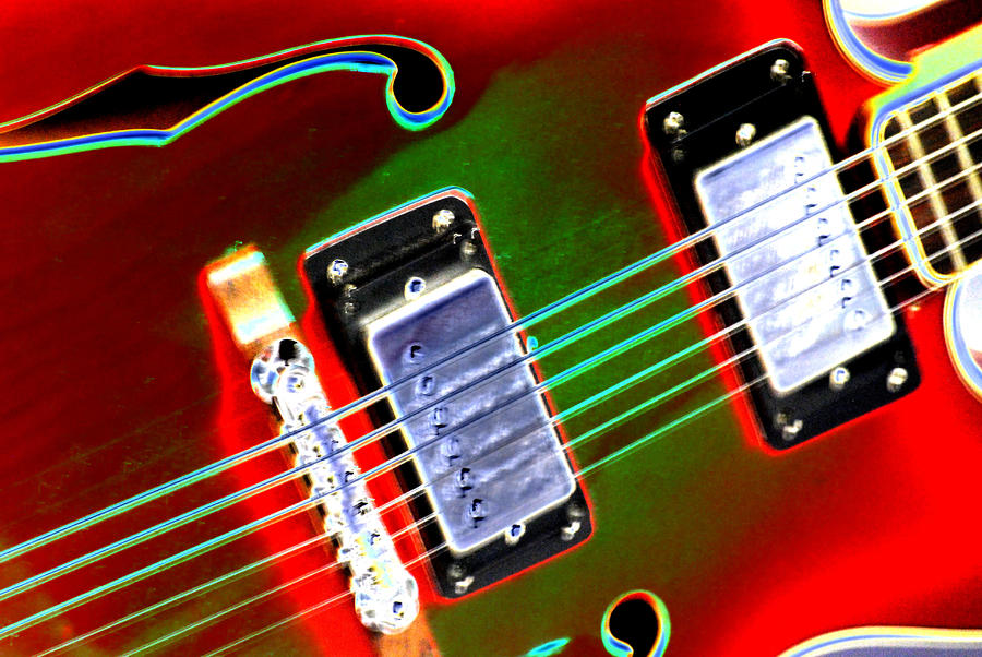 Electric Guitar Digital Art  - Electric Guitar Fine Art Print