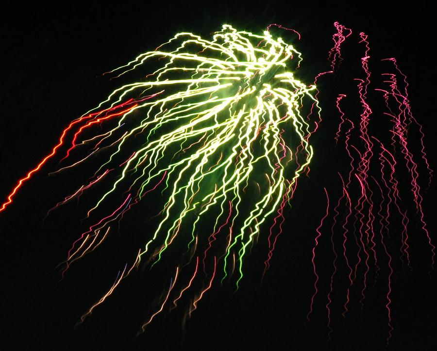 Fireworks Photograph - Electric Jellyfish by Rhonda Barrett