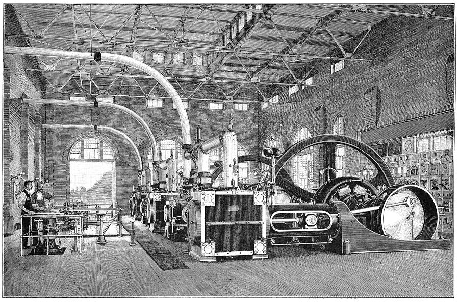 Human Photograph - Electric Tramway Generator, 19th Century by
