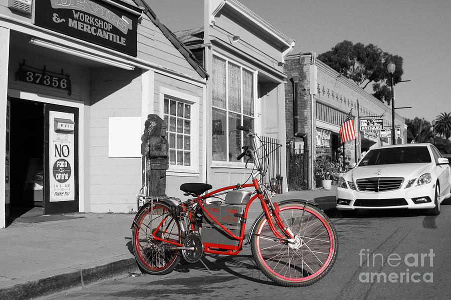 Electric Vehicle . Peddle Power . Infinite Miles To The Gallon . 7d12729 Photograph  - Electric Vehicle . Peddle Power . Infinite Miles To The Gallon . 7d12729 Fine Art Print