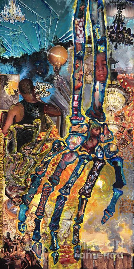 Electricity Hand La Mano Poderosa Painting