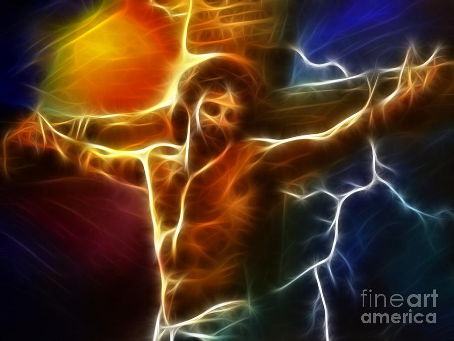 Electrifying Jesus Crucifixion Photograph  - Electrifying Jesus Crucifixion Fine Art Print