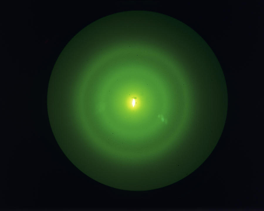 Electron Diffraction Pattern Photograph