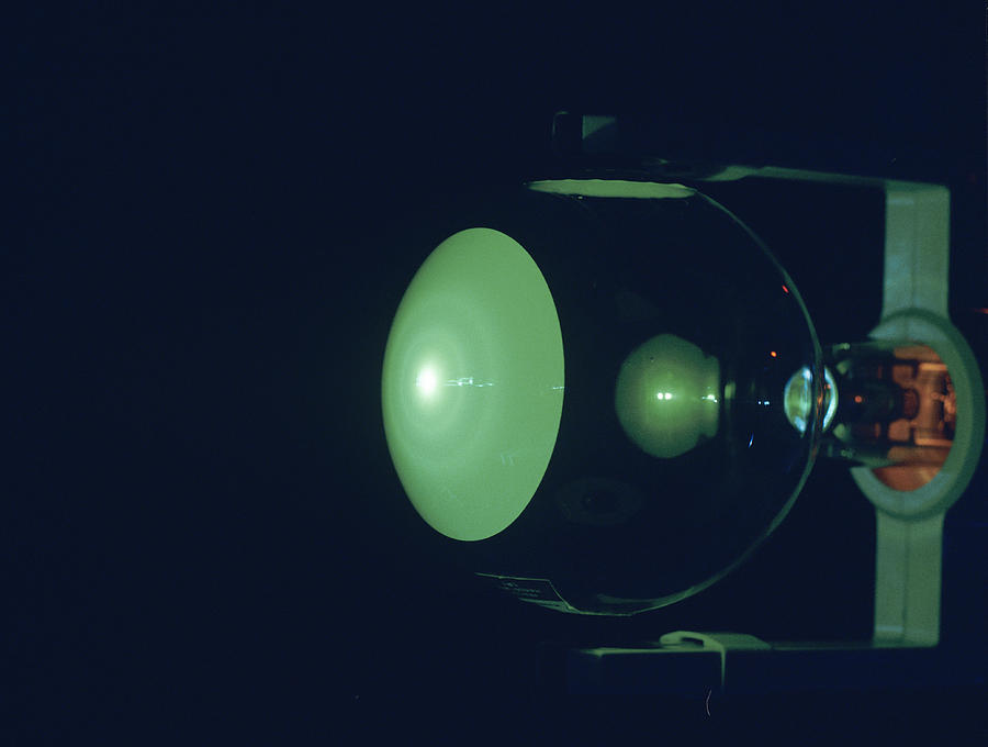 Electron Diffraction Tube Photograph