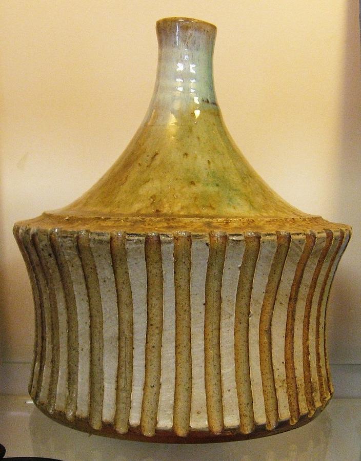Elemental Pottery Ceramic Art - Elemental Pottery Bottle by Friedericks