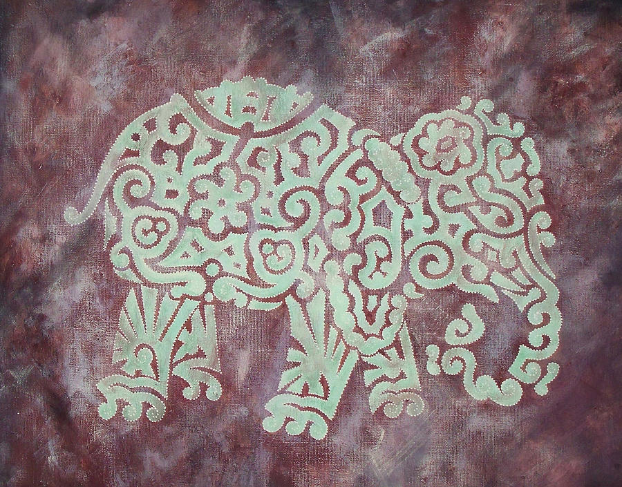 Elephant - Animal Series Painting  - Elephant - Animal Series Fine Art Print