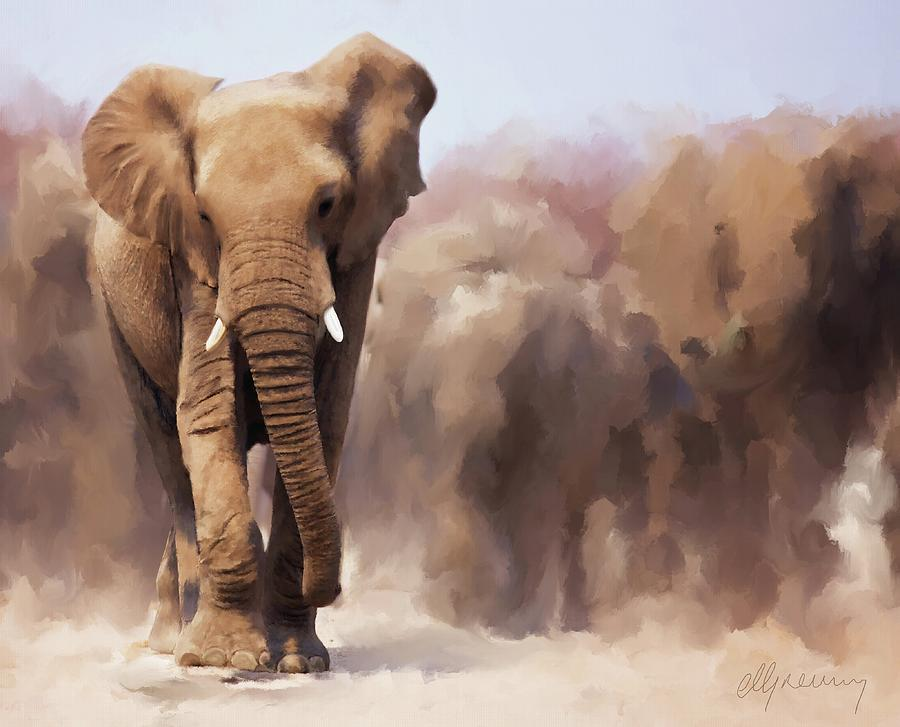 Elephant Painting Painting
