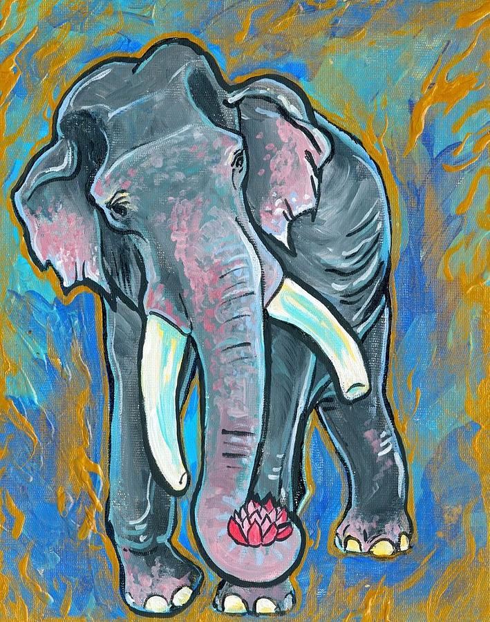 Elephant Spirit Dreams Painting  - Elephant Spirit Dreams Fine Art Print