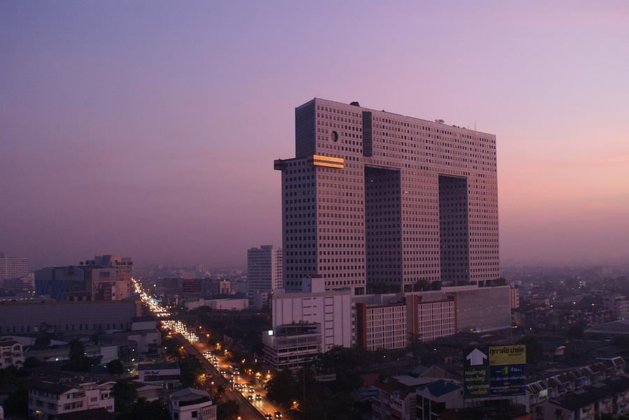 Elephant Tower Purple Sunrise Photograph
