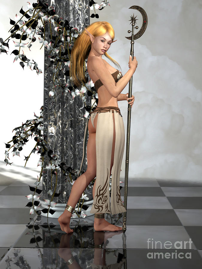 Elf Princess Digital Art  - Elf Princess Fine Art Print