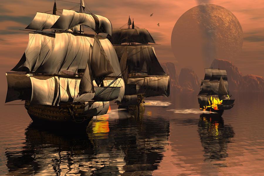 Eliminating The Pirates Digital Art