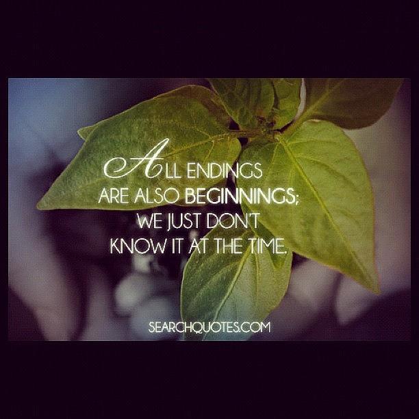 Quotes About Endings And Beginnings Endings Beginnings