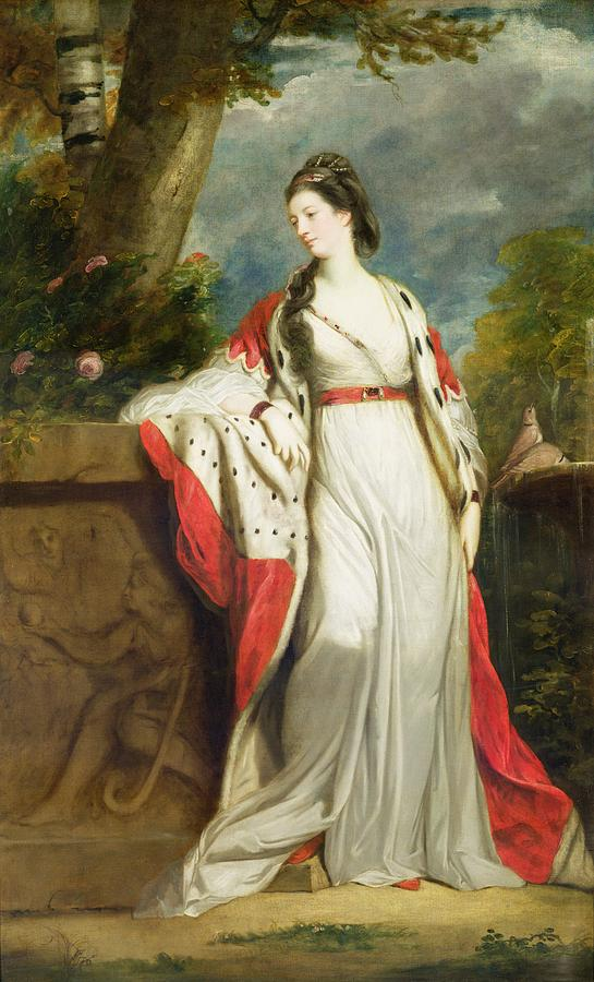 Elizabeth Gunning - Duchess Of Hamilton And Duchess Of Argyll Painting