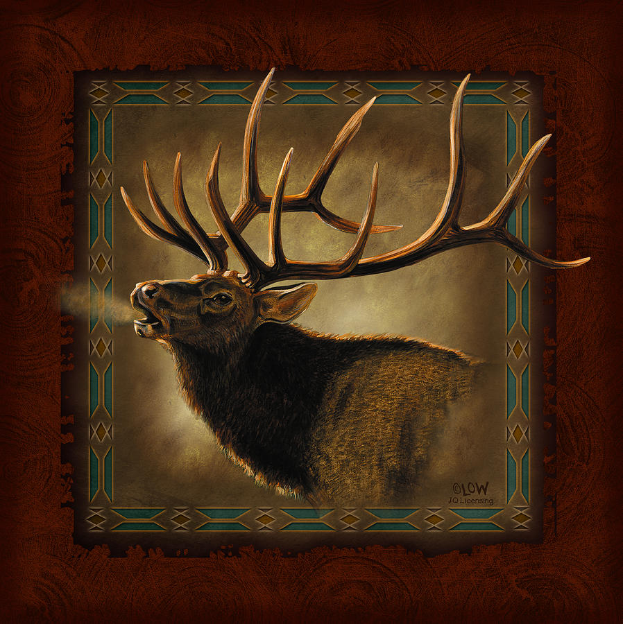 Elk Lodge Painting  - Elk Lodge Fine Art Print