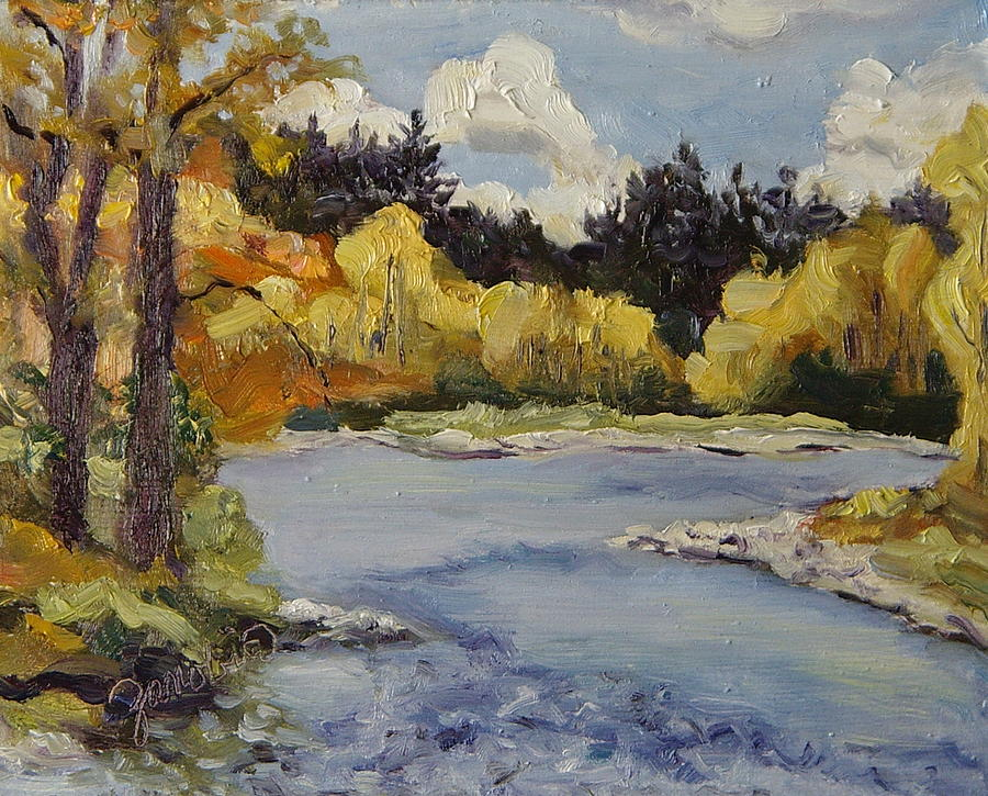 Elk River Fall Steamboat Springs Colorado Painting