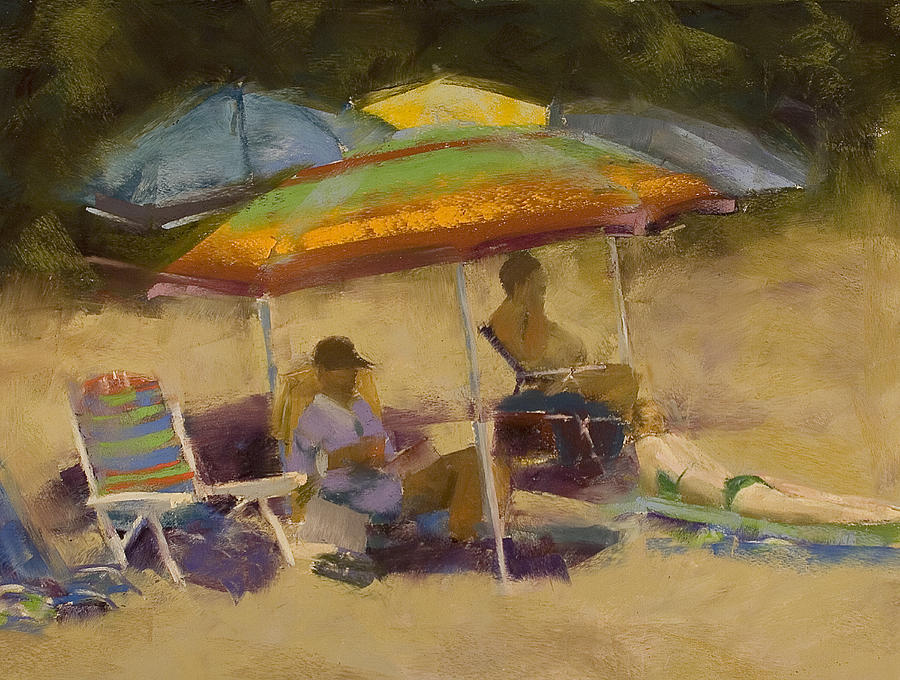 Elkins South Beach Painting  - Elkins South Beach Fine Art Print