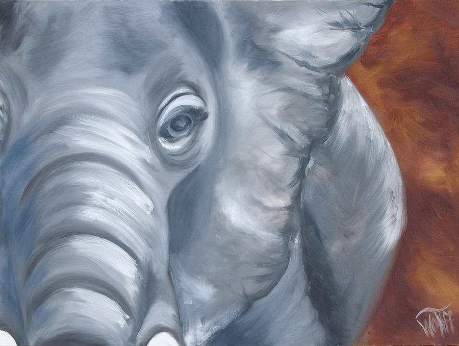 Ellie Painting  - Ellie Fine Art Print