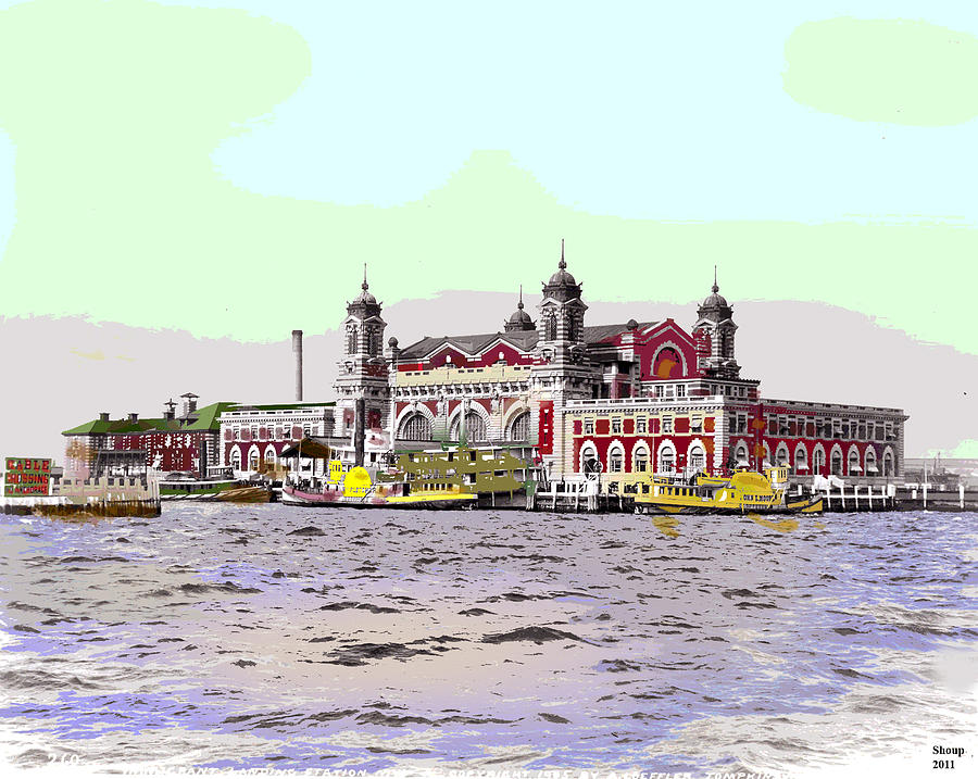 Ellis Island Mixed Media