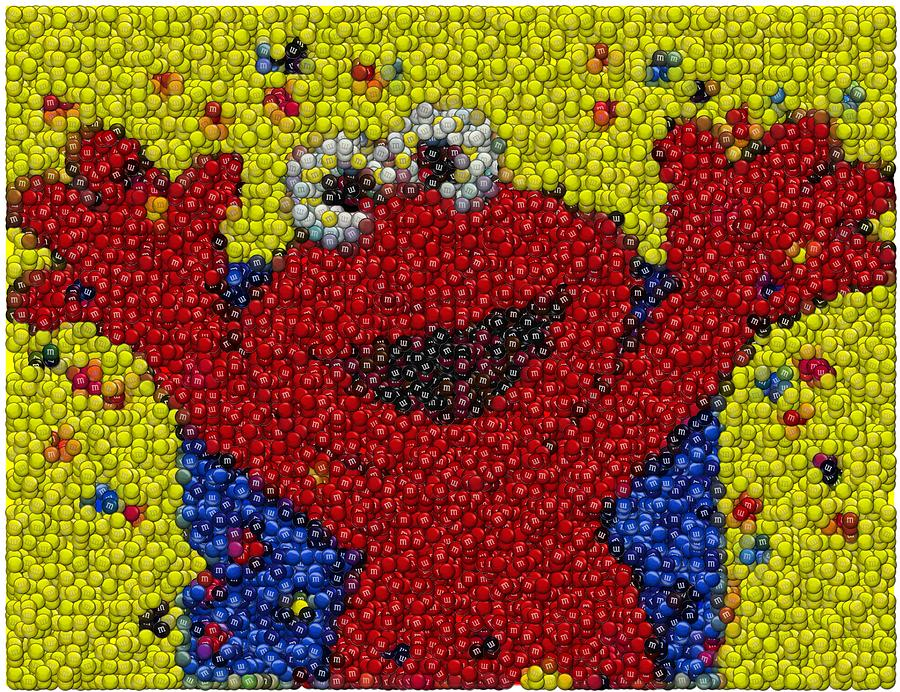 M And Ms Art - Elmo MM Candy  M And Ms Candy
