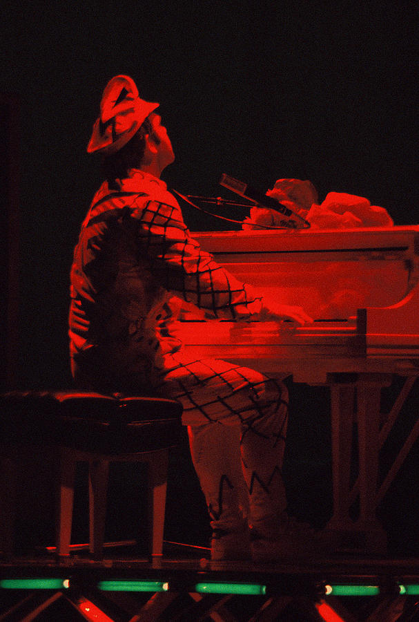Elton In The Red Photograph