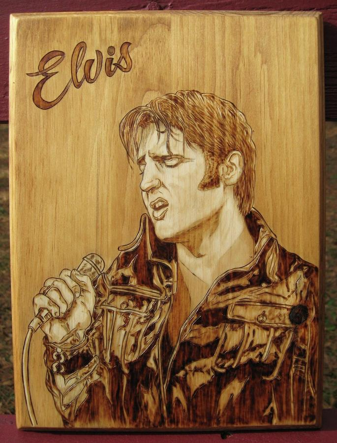 Elvis Pyrography