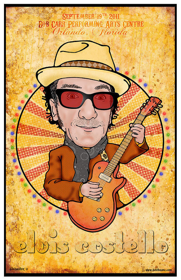 Elvis Costello Digital Art