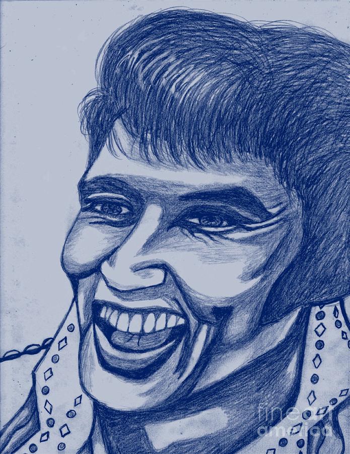 Elvis In Blue Painting