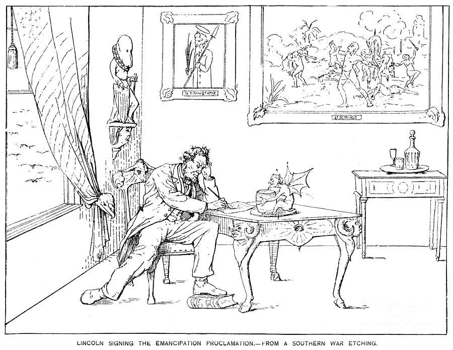 Emancipation Cartoon Photograph