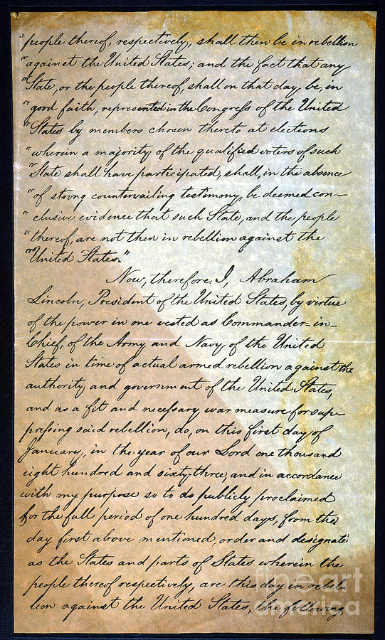 Emancipation Proc., P. 2 Photograph  - Emancipation Proc., P. 2 Fine Art Print