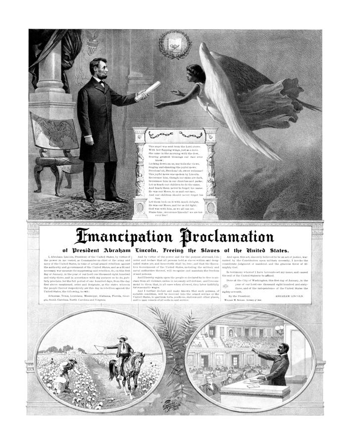 Emancipation Proclamation Drawing  - Emancipation Proclamation Fine Art Print
