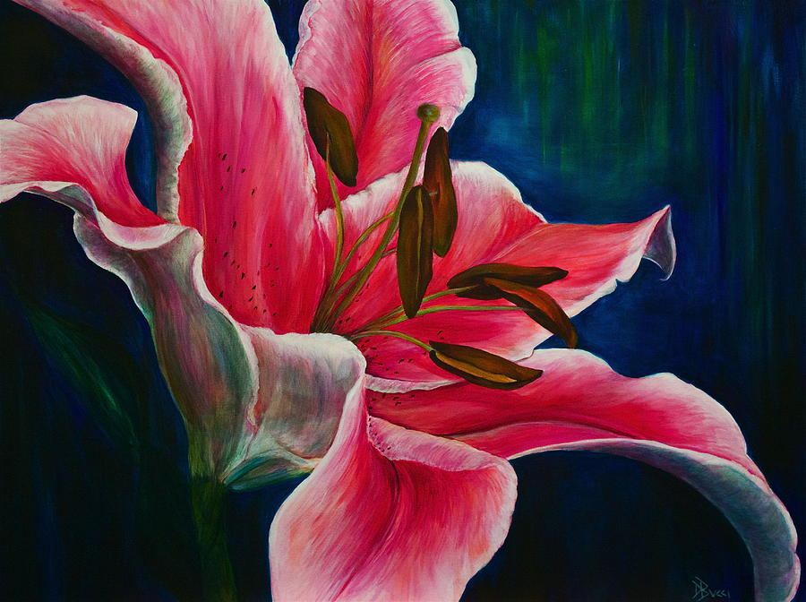 Embrace The Day Lily Painting