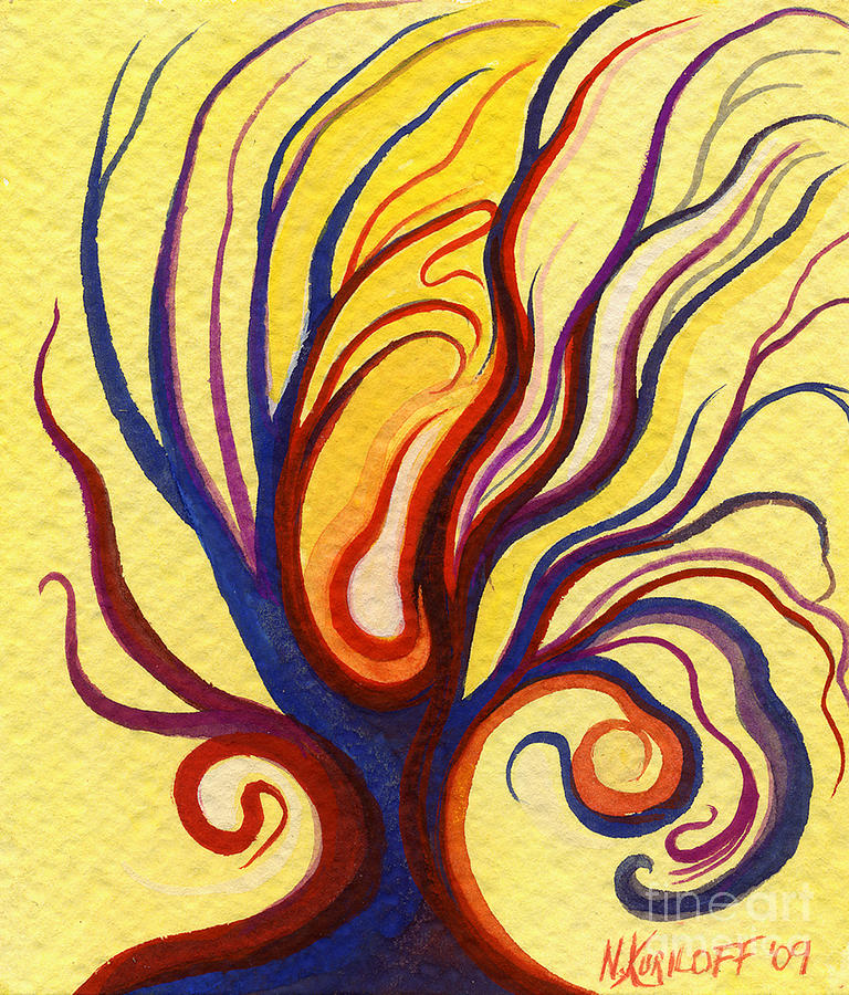 Embryo In The Tree Painting  - Embryo In The Tree Fine Art Print