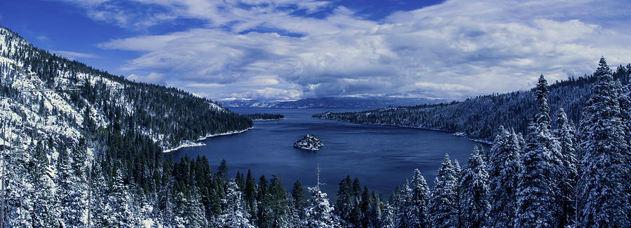 Emerald Bay First Snow Photograph  - Emerald Bay First Snow Fine Art Print