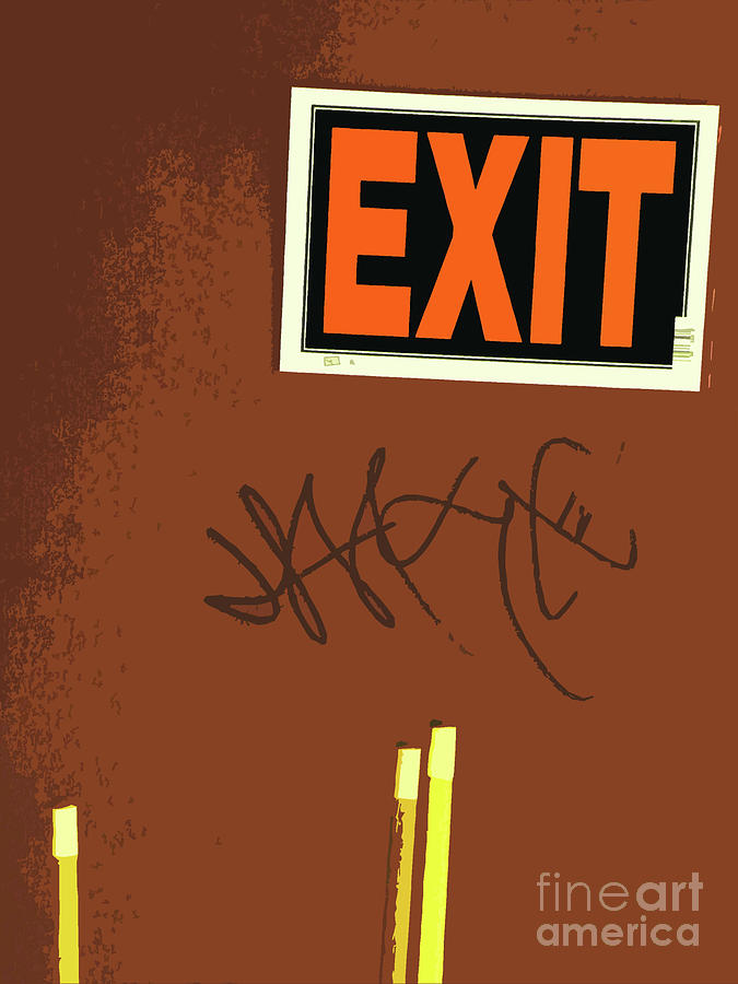 Emergency Exit Photograph  - Emergency Exit Fine Art Print