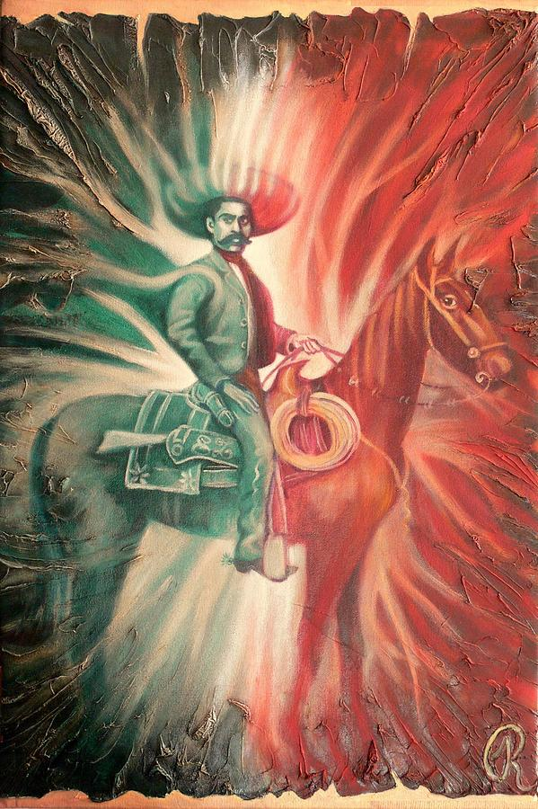 Emiliano Zapata On Horse Painting - Emiliano Zapata On Horse Fine Art ...