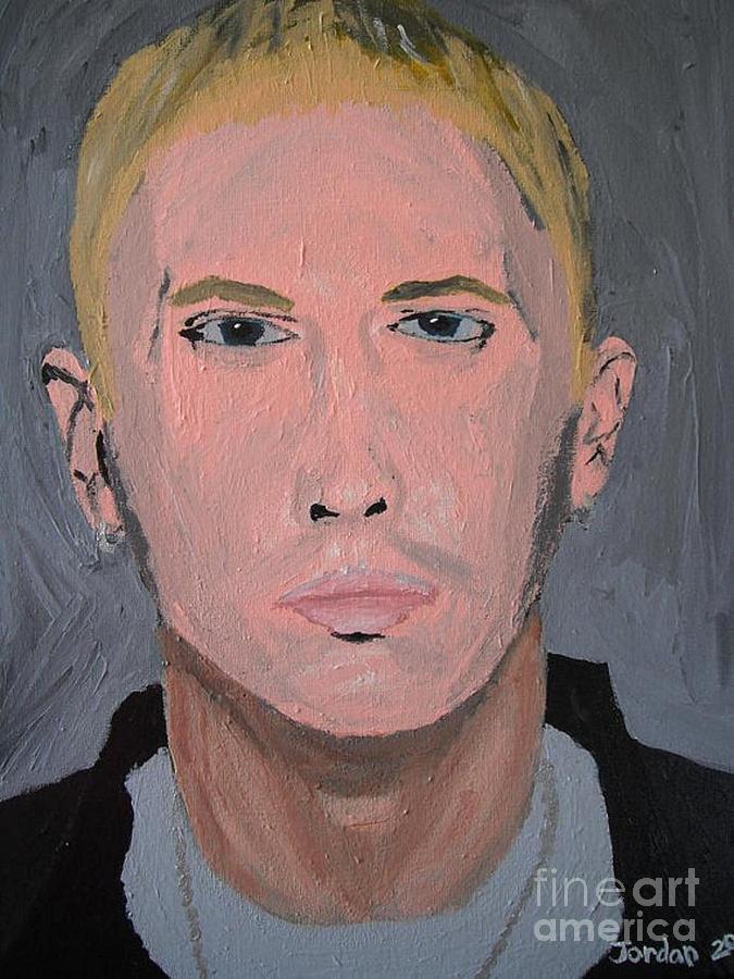 Eminem Rap Singer Painting
