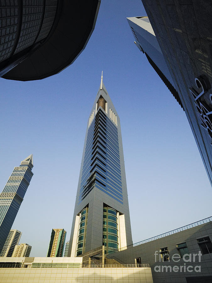 Architectural Detail Photograph - Emirates Tower At Sunrise by Jeremy Woodhouse